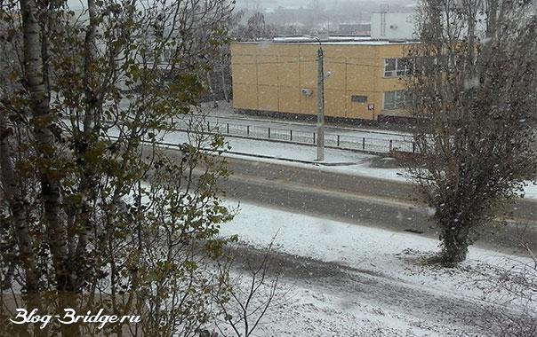 первый-снег