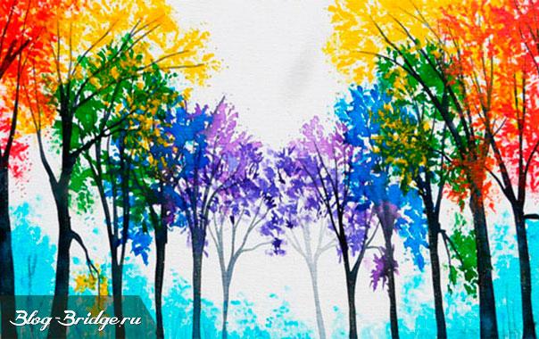 цветные-деревья