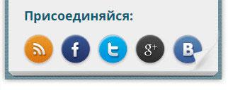 указание ссылок на представительства в социальных сетях